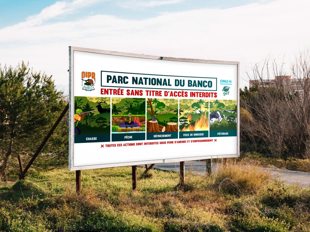 AFFICHE GRANDE TAILLE PARC DU BANCO